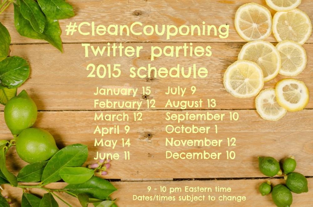 Twitter parties schedule 2015