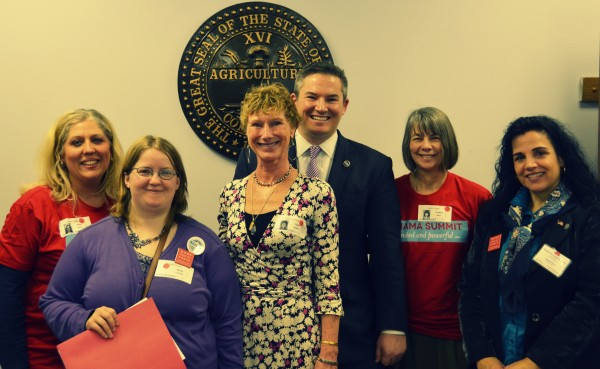 Tennessee Senator Jeff Yarbro with Moms Clean Air Force