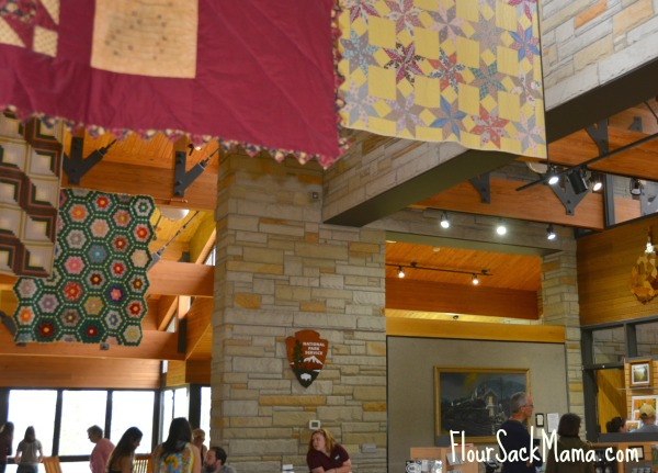 Quilts in park visitor center in West Virginia