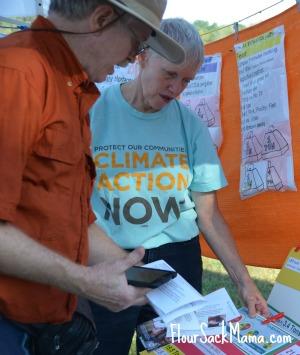 Dr. Mary Headrick & husband at climate vigil