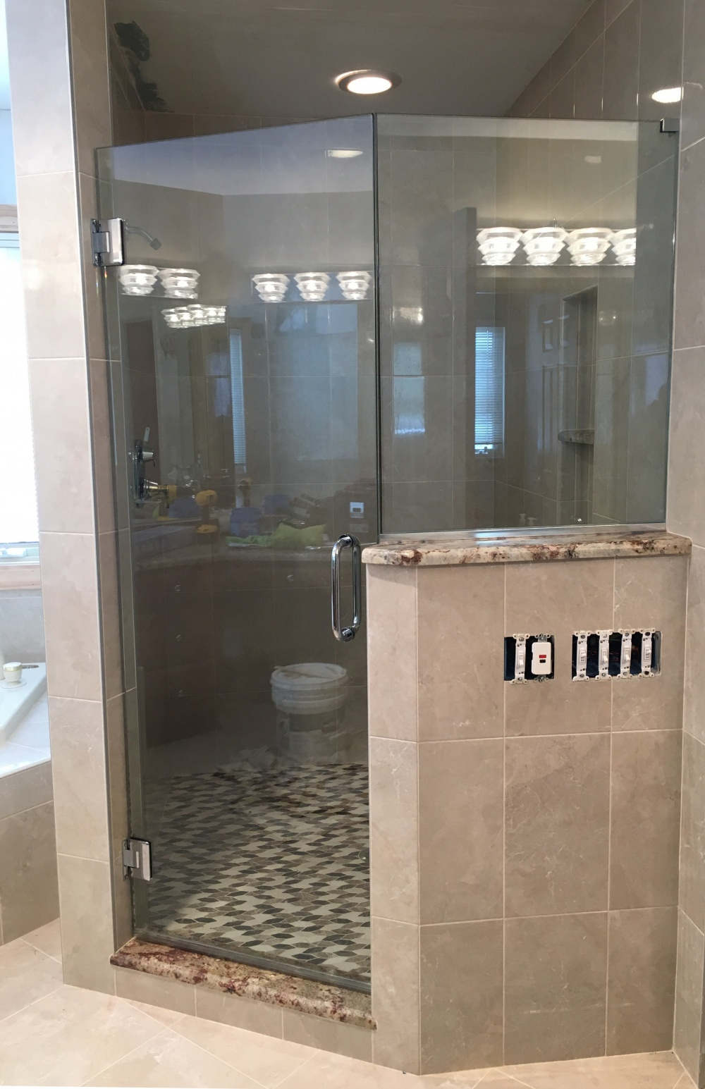 Large Mirrors In Bathroom Glass Shower Doors Glass Shower Enclosures Flower City