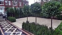 Modern Front Garden Design Victorian mosaic formal Clapham ...