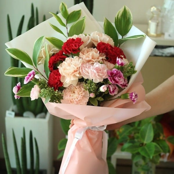 Carnation Flower Gift A Mixed Carnation Bouquet - Flower Gift Korea - 350+ 5