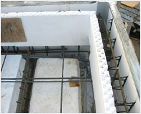 ICF Blocks Flowers Foam Products - Concrete Wall Insulation
