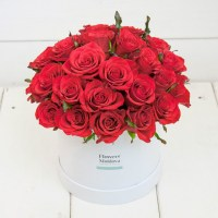 Flower Box Classic Red Roses - Flowers Moldova