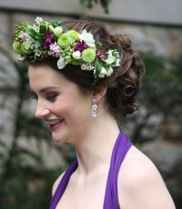 Flower Hair Garland by Sydney wedding florist