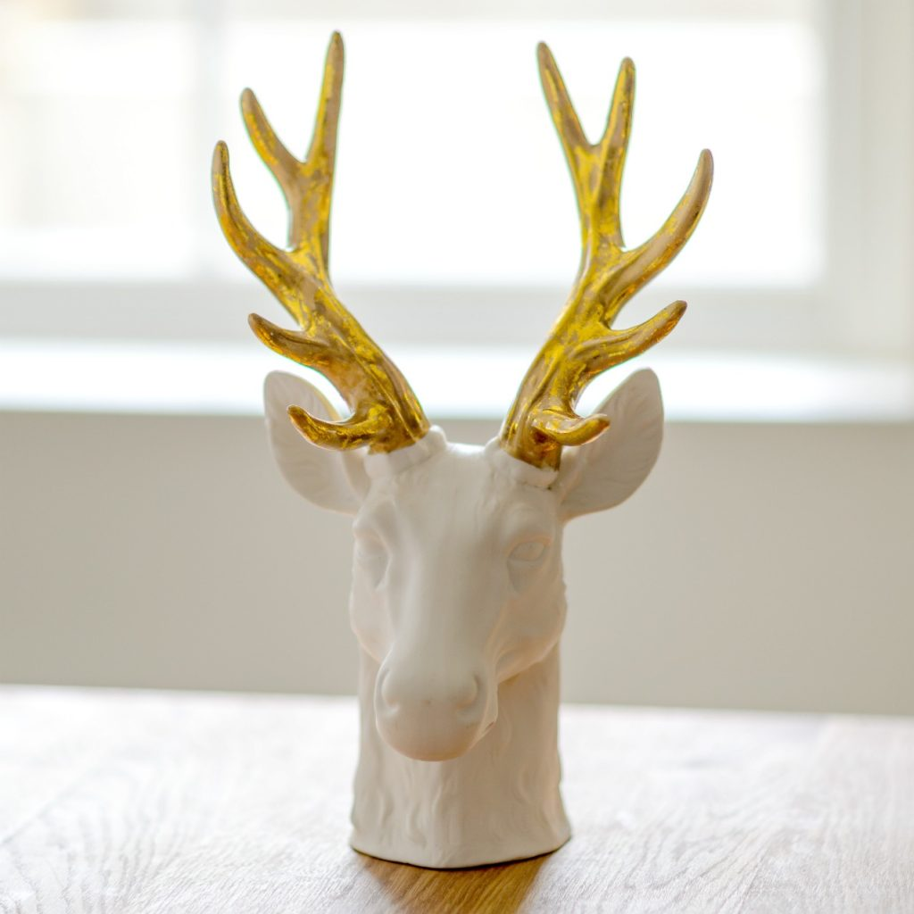 White Porcelain Deer Head Festive Floral Party Must Haves Flower Studio Shop