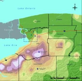 Buffalo Snowfall Map Without Legend