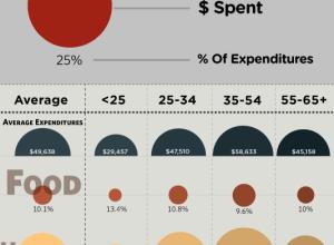 Average US Consumer Spending Bubble Infographic