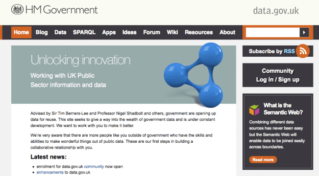 Data.gov.uk Homepage