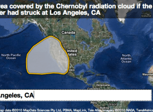 Chernobyl radiation cloud map