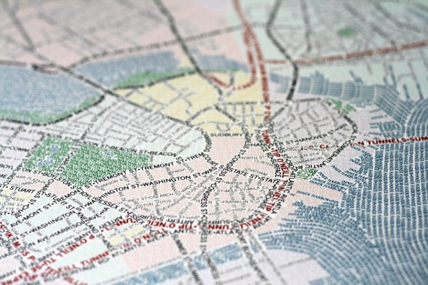 Typographic map by AxisMaps