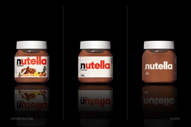 nutella brand minimalist