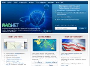 Data homepage