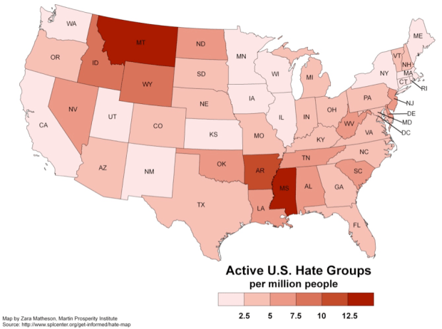 Geography of hate