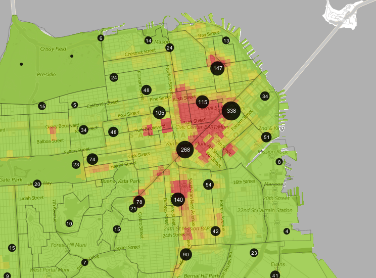 San francisco safety map