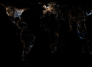 Twitter and Flickr world map