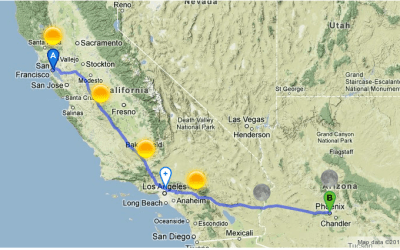 Trip Planner for SF to Phoenix