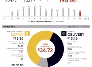 Electricity bill redesigned