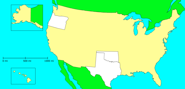 Match states on a blank map