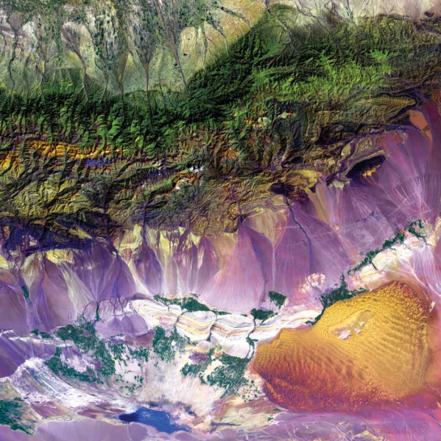 Bogda Mountains from Earth as Art