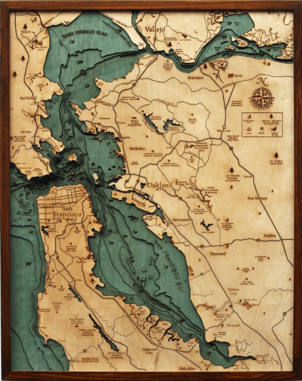 Wood map of SF bay