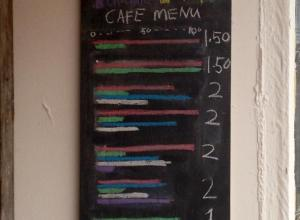 Coffee menu
