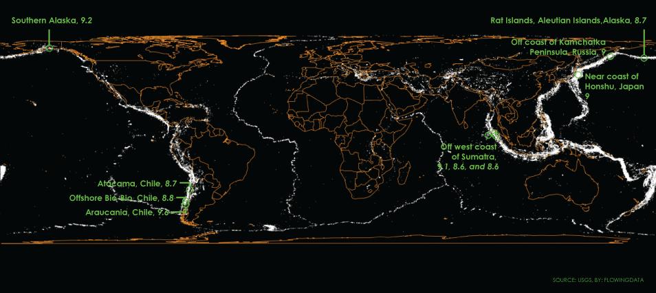 A century of earthquakes