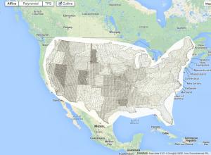 Old maps overlaid on Google Maps
