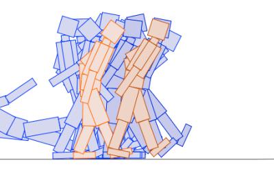 Genetic algorithm walkers