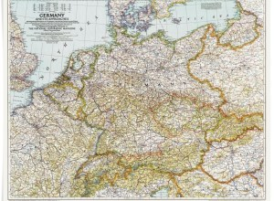 Germany map from National Geographic