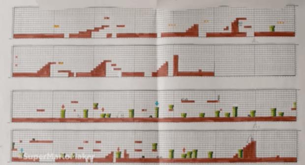 Super Mario Bros. on graph paper