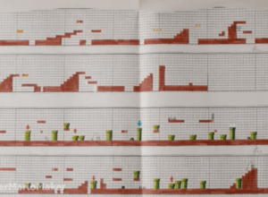 Super Mario Bros. on graph paper