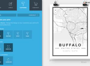 Mapfil printed map of Buffalo