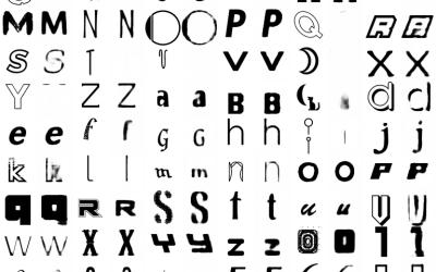 Font neural network