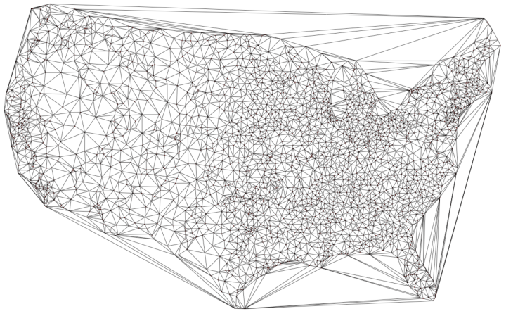 Delaunay triangulation airports