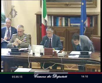Il gen. Graziano in audizione alla Camera il 6 agosto 2015