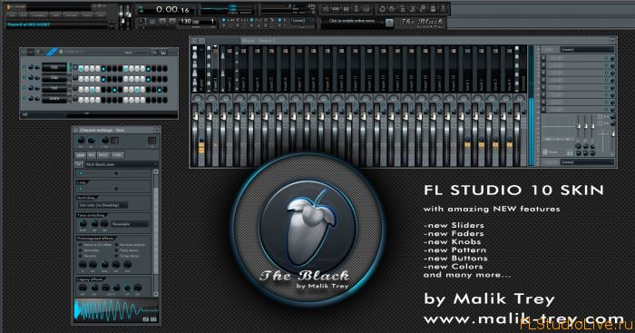Новый скин для FL Studio 10 — The Black
