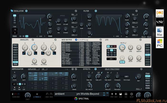 Скачать VST Плагин для FL Studio LinPlug SPECTRAL v0.9.9Final VSTi