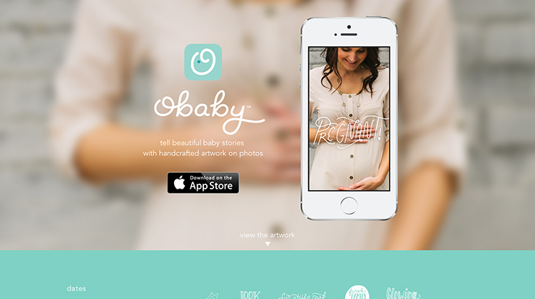 Obaby - a iOS app - an example for flat ui design