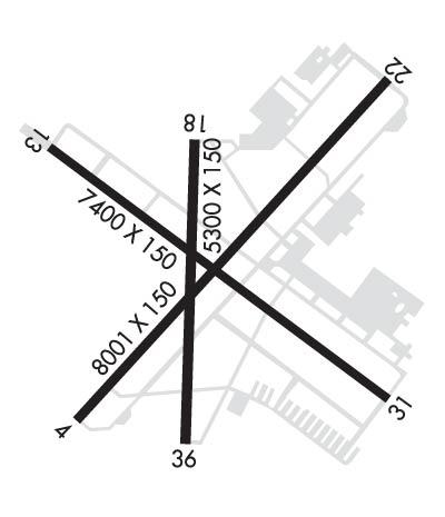lincoln airport diagram