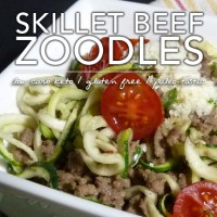 Skillet Beef with Zoodles - Low Carb Keto Hamburger Helper Goodness!