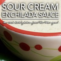 Sour Cream Enchilada Sauce - Low Carb & Gluten Free