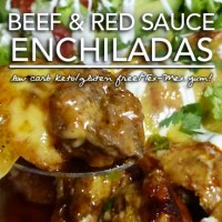 Beef Enchiladas in Red Sauce - Low Carb Keto & Grain Free | Gluten Free