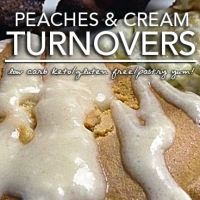 Low Carb Gluten Free Peaches and Cream Turnovers and Danish
