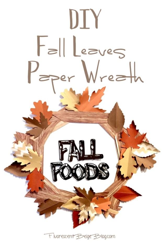 DIY Fall Leaves Paper Wreath