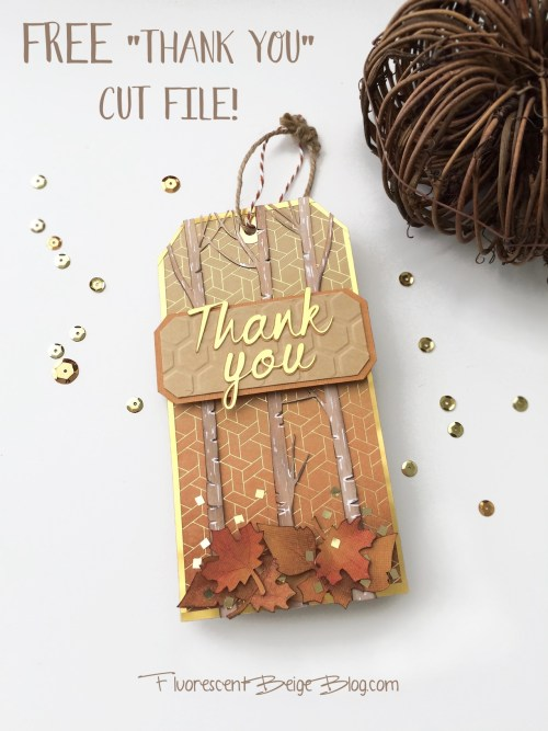 Free Thank You Cut File Thanksgiving Tag