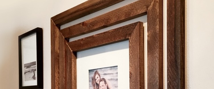 DIY Wood Wall Frames