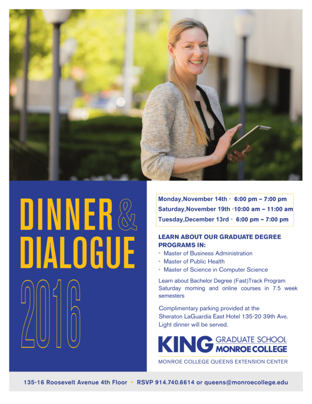 Dinner and Dialogue W17 Queens