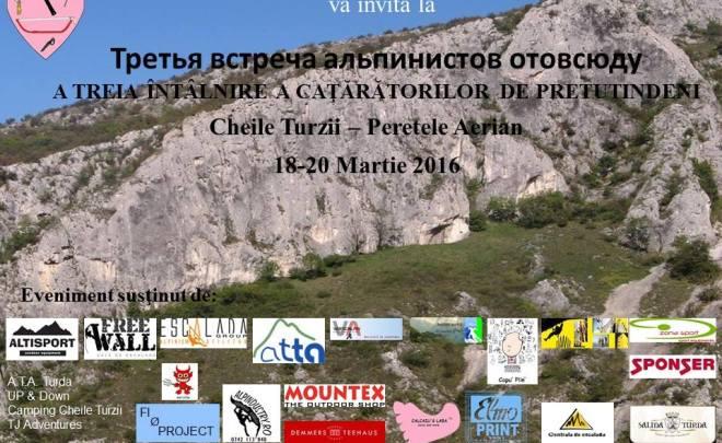 Întâlnirea Cățărătorilor de Pretutindeni, ediția 2016, în Cheile Turzii